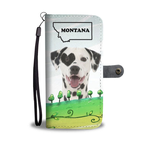 Dalmatian Dog Print Wallet Case-Free Shipping-MT State