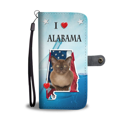 Cute Burmese Cat Print Wallet Case-Free Shipping-AL State