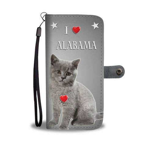 British Shorthair Cat Print Wallet Case-Free Shipping-AL State