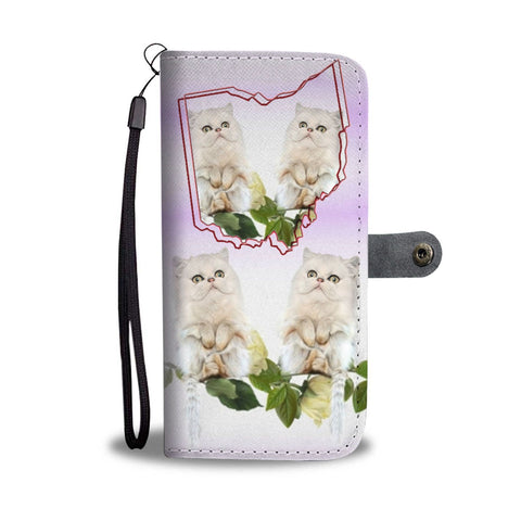 Persian cat Print Wallet Case-Free Shipping-OH State