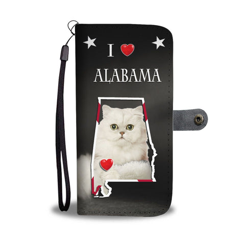 Persian Cat Print Wallet Case-Free Shipping-AL State