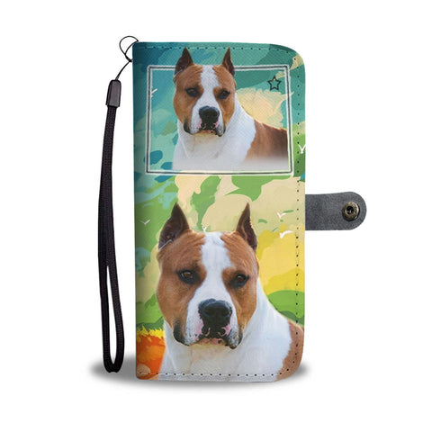 American Staffordshire Terrier Print Wallet Case-Free Shipping-CO State