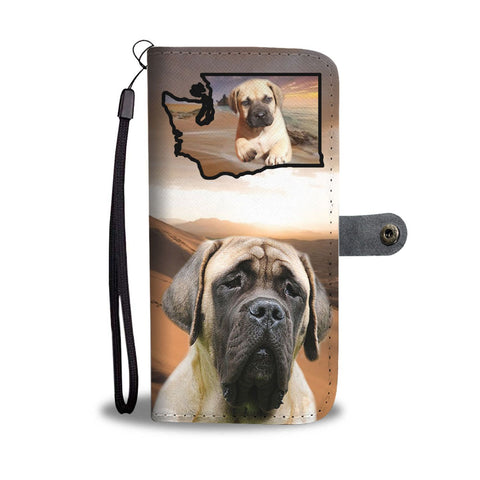English Mastiff Print Wallet Case-Free Shipping-WA State