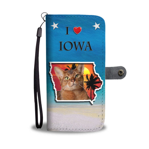 Abyssinian Cat Print Wallet Case-Free Shipping-IA State