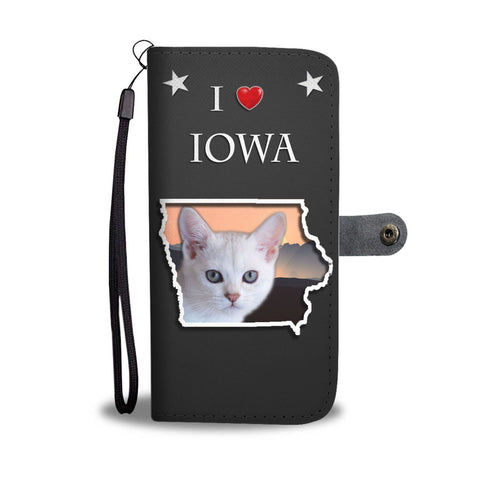 Burmilla Cat On Black Print Wallet Case-Free Shipping-IA State