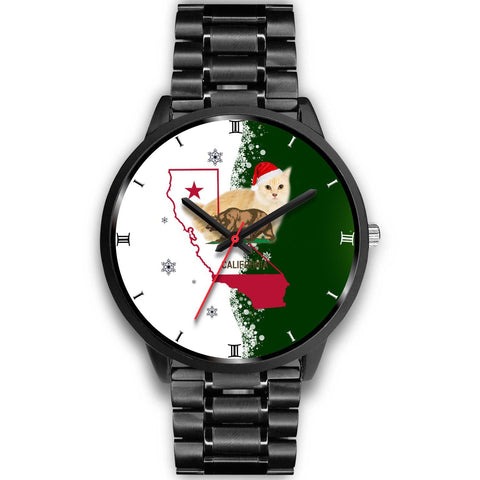 Munchkin Cat California Christmas Special Wrist Watch-Free Shipping