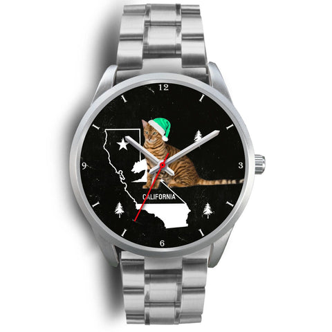 Toyger Cat California Christmas Special Wrist Watch-Free Shipping