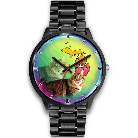 Lovely American Bobtail Cat Michigan Christmas Special Wrist Watch-Free Shipping