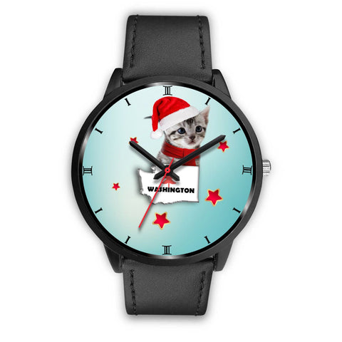American Shorthair Cat Washington Christmas Special Wrist Watch-Free Shipping