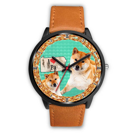 Graceful Shiba Inu Dog Pennsylvania Christmas Special Wrist Watch-Free Shipping