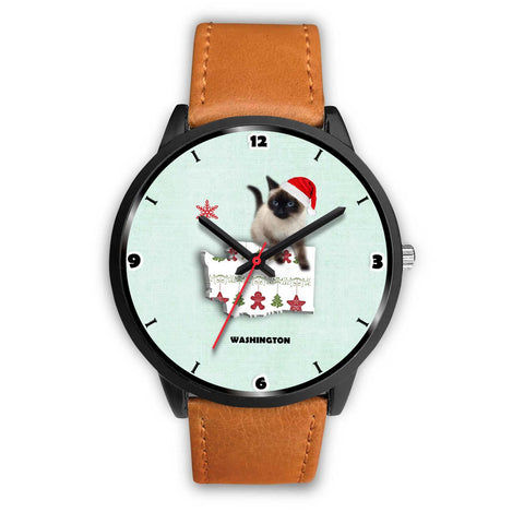 Birman Cat Washington Christmas Special Wrist Watch-Free Shipping