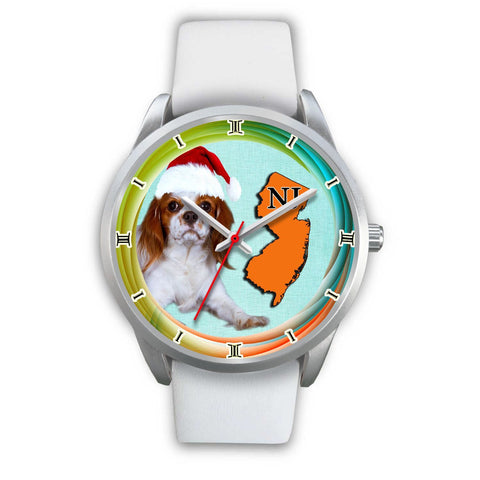 Cute Cavalier King Charles Spaniel Dog New Jersey Christmas Special Wrist Watch-Free Shipping