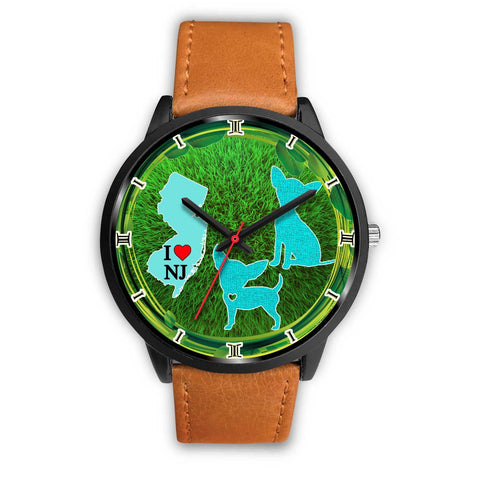 Chihuahua Dog Art New Jersey Christmas Special Wrist Watch-Free Shipping