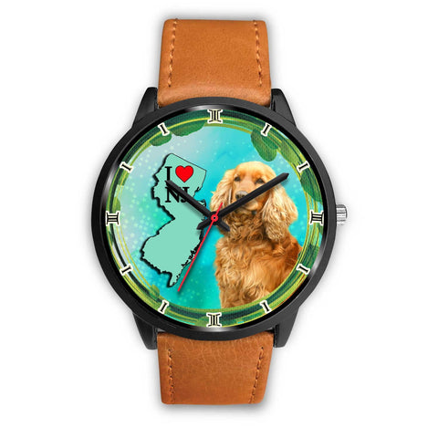 English Cocker Spaniel Dog New Jersey Christmas Special Wrist Watch-Free Shipping
