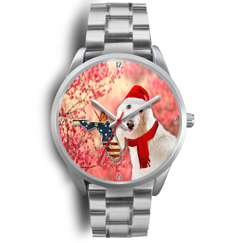Afghan Hound Florida Christmas Special Wrist Watch-Free Shipping