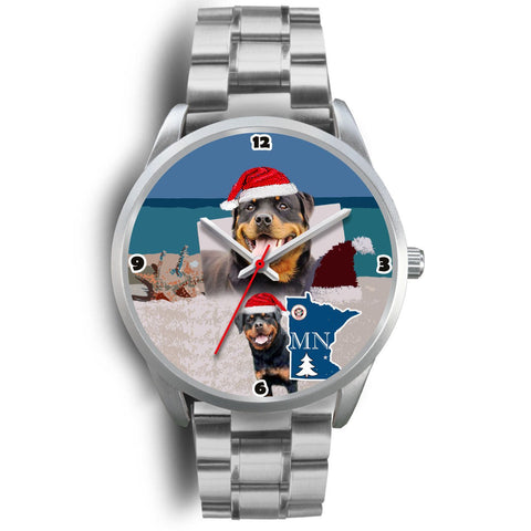 Rottweiler Dog Minnesota Christmas Special Wrist Watch-Free Shipping