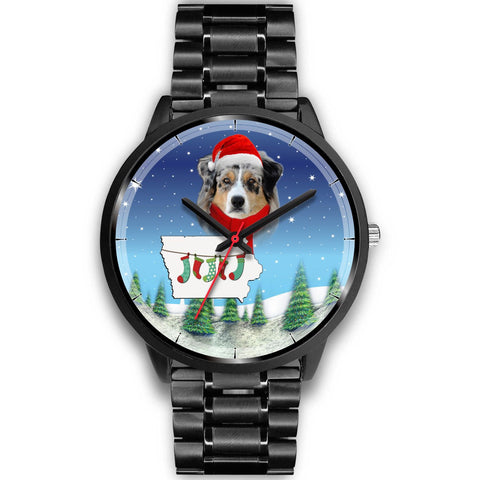 Australian Shepherd Iowa Christmas Special Wrist Watch-Free Shipping