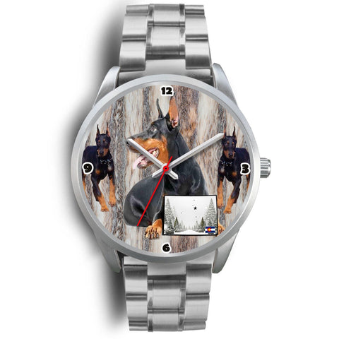 Doberman Pinscher Colorado Christmas Special Wrist Watch-Free Shipping