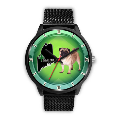 Lovely Pug Dog Maine Christmas Special Wrist Watch-Free Shipping