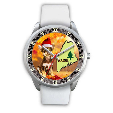 Chihuahua Dog Maine Christmas Special Wrist Watch-Free Shipping