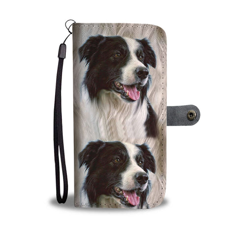 Cute Border Collie Dog Print Wallet Case-Free Shipping