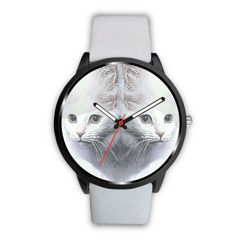 Turkish Angora Cat Print Wrist Watch-Free Shipping