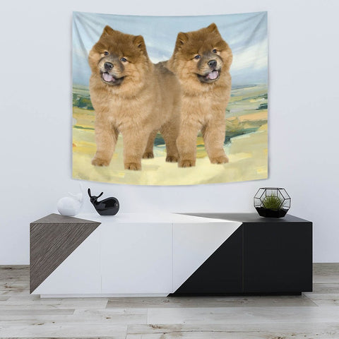 Chow Chow Dog Print Tapestry-Free Shipping