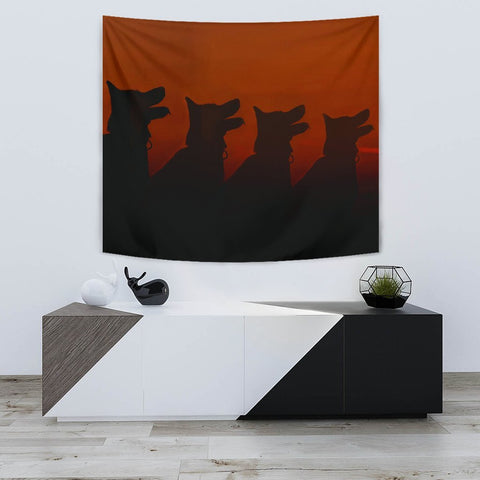 Amazing German Shepherd Dog Shadow Print Tapestry-Free Shipping