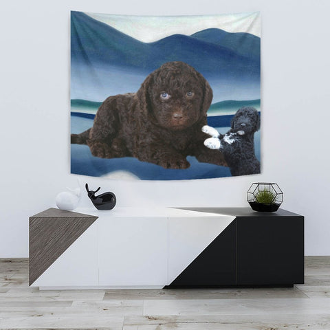 Cute Barbet Dog Print Tapestry-Free Shipping