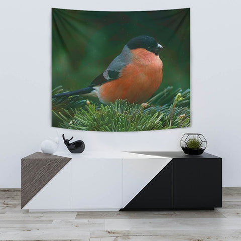 Bullfinch Bird Print Tapestry-Free Shipping