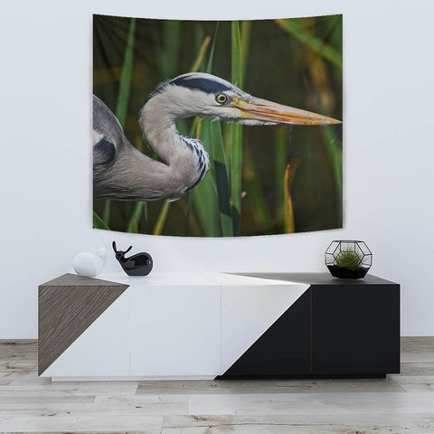 Grey Heron Bird Print Tapestry-Free Shipping