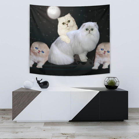 Lovely Persian Cat Print Tapestry-Free Shipping
