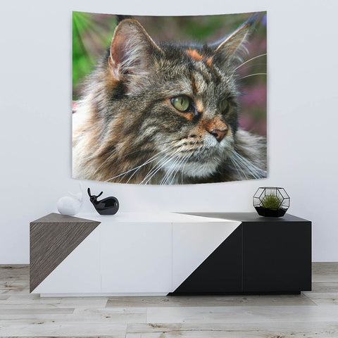 Amazing Maine Coon Cat Print Tapestry-Free Shipping