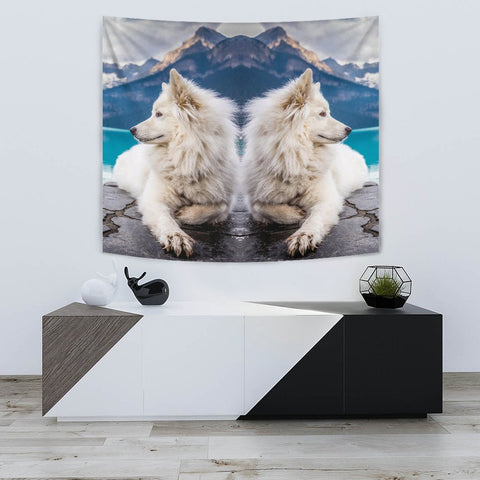 Amazing Samoyed Dog Print Tapestry-Free Shipping