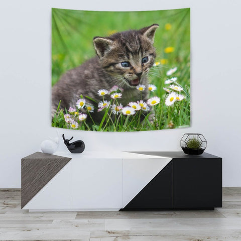 Cute American Shorthair Cat Print Tapestry-Free Shipping