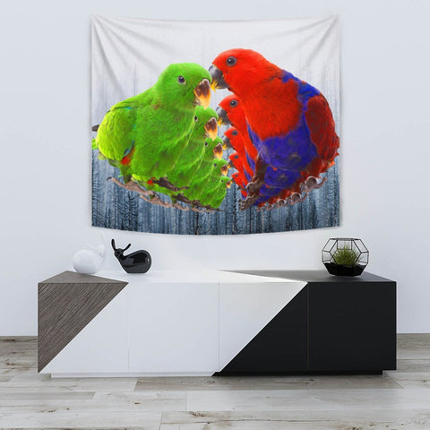 Lovely Eclectus Parrot Print Tapestry-Free Shipping