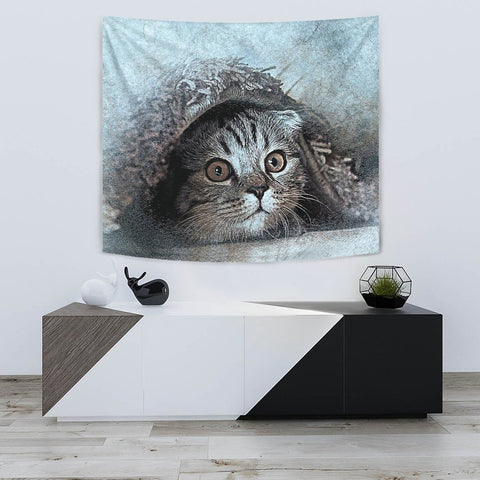 Lovely Cat Art Print Tapestry-Free Shipping