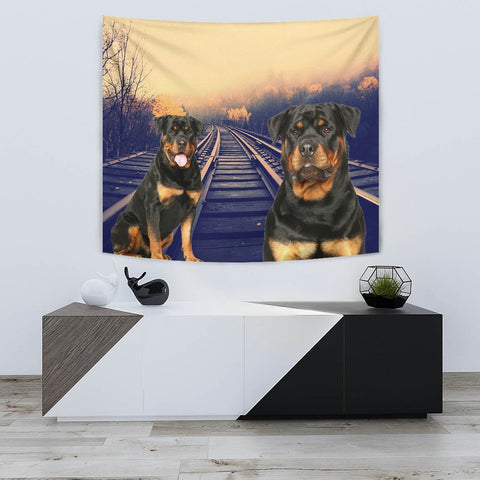 Amazing Rottweiler Dog Print Tapestry-Free Shipping