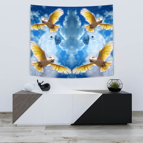 Salmon Crested Cockatoo Print Tapestry-Free Shipping