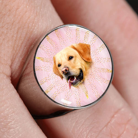 Labrador Retriever Print Signet Ring-Free Shipping