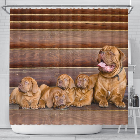 Bordeaux Mastiff Print Shower Curtains-Free Shipping