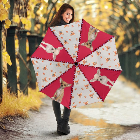 Chihuahua Patterns Print Umbrellas