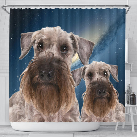 Cesky Terrier Print Shower Curtains-Free Shipping