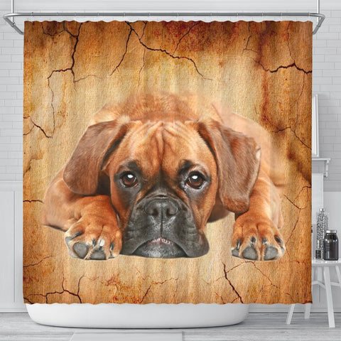 Boxer Dog Print Shower Curtains-Free Shipping