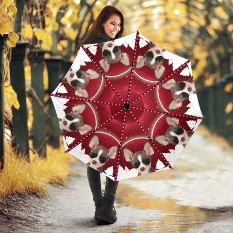 Chihuahua Red Print Umbrellas