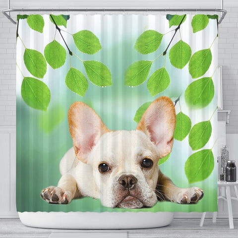 Lovely French Bulldog Print Shower Curtains-Free Shipping