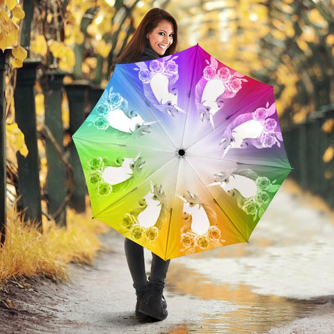 Colorful Unicorn Print Umbrellas