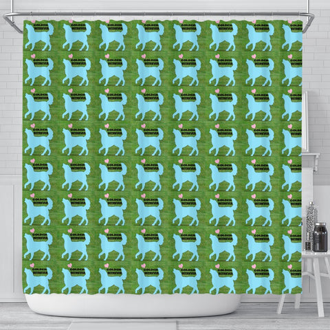Golden Retriever Dog Pattern Print Shower Curtain-Free Shipping