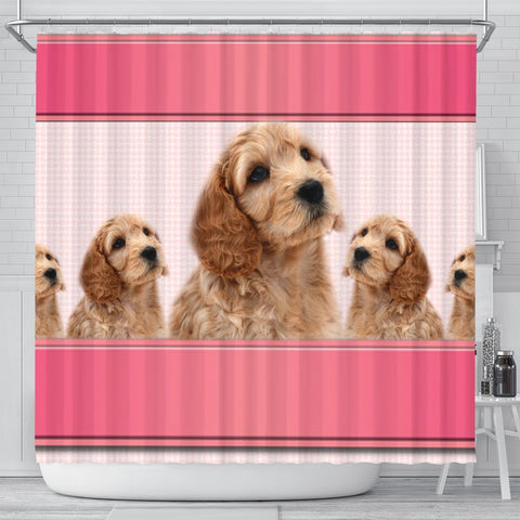 Cockapoo Dog Print Shower Curtain-Free Shipping