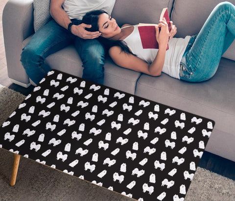 American Eskimo Dog Pattern Print Rectangular Coffee Table